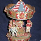 Christmas Bear Carousel NEW IN BOX maybe Musical