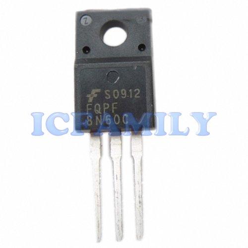 10pcs FCS FQPF8N60C TO-220F FQPF Series 600V N-Channel MOSFET