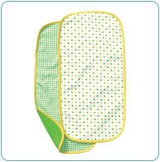 Tiny Tillia Green 2-Pack Burp Cloth Set
