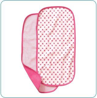 Tiny Tillia Pink 2-Pack Burp Cloth Set