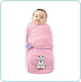 Tiny Tillia Candy Poodle Microfleece Swaddle Blanket (0-3 months)