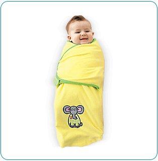 Tiny Tillia Austin Elephant Microfleece Swaddle Blanket (3-6 months)
