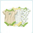 Tiny Tillia Green Growing Bodysuit 3-Size Pack (3-9 months)