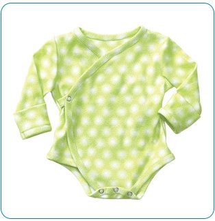Tiny Tillia Green Nail Protector Bodysuit (0-3 months)