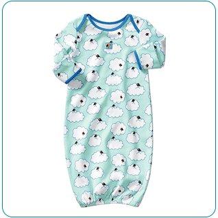 Tiny Tillia Sleeper in Blue (0-3 months)