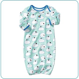 Tiny Tillia Sleeper in Blue (3-6 months)