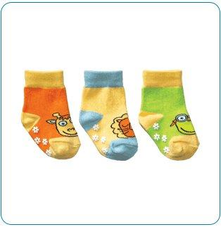 Tiny Tillia Yellow Novelty Sock Set (0-12 months)