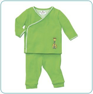 Tiny Tillia Green Playsuit Kimono Top + Pant (0-3 months)