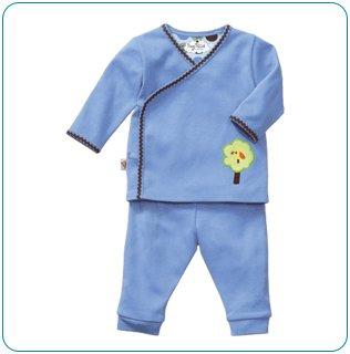 Tiny Tillia Blue Playsuit Kimono Top + Pant (3-6 months)