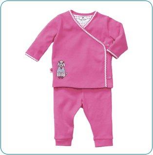 Tiny Tillia Pink Playsuit Kimono Top + Pant (0-3 months)