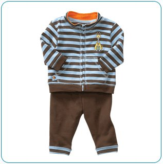 Tiny Tillia Playsuit Zipper Top + Pant (0-3 months)