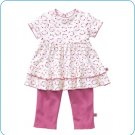Tiny Tillia Playsuit Ruffle Top + Legging (0-3 months)