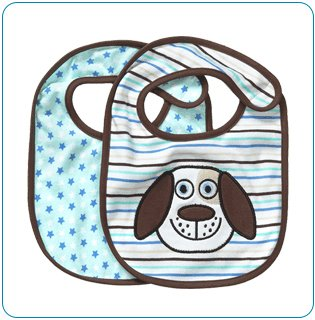 Tiny Tillia Duncan Dog 2-Pack Bib Set