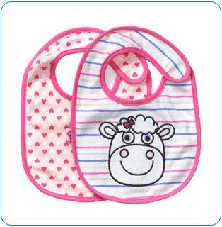 Tiny Tillia Indy Sheep 2-Pack Bib Set