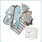 Tiny Tillia Blue 5-Piece Layette Gift Set (0-3 months)