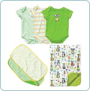 Tiny Tillia Green Bedtime Bundle (3-6 months)