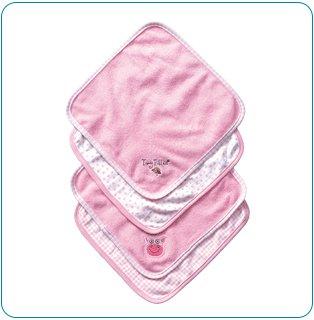 Tiny Tillia Dilly Pig 4-Piece Washcloth Set