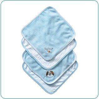 Tiny Tillia Duncan Dog 4-Piece Washcloth Set