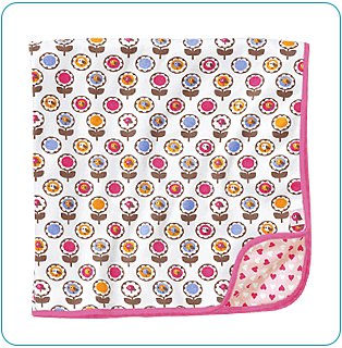 Tiny Tillia Pink Receiving Blanket - Personalizable