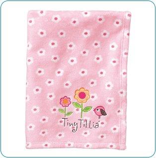 Tiny Tillia Pink Room Blanket - Personalizable