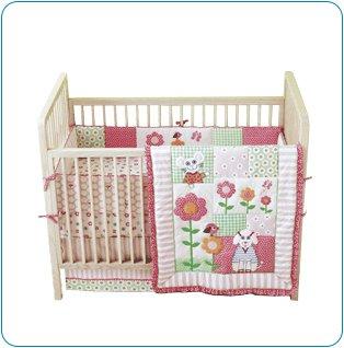 Tiny Tillia 4-Piece Pink Crib Bedding Set