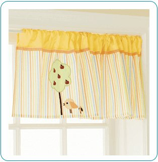 Tiny Tillia Yellow Valance