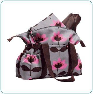 The Tiny Tillia Essential Diaper Bag: Pink Tulip - Avon