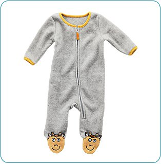 Tiny Tillia Fleece Coverall (6-9 months)