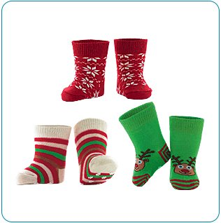Tiny Tillia Holiday Sock Set (12-24 months)
