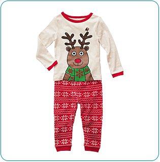 Tiny Tillia Reindeer PJ Set (12-18 months)