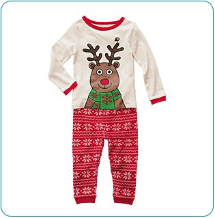 Tiny Tillia Reindeer PJ Set (18-24 months)