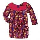 12 Months: Tiny Tillia Floral Paisley Corduroy Dress - Avon