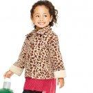 18 Months: Tiny Tillia Jaguar Animal Print Coat - Avon