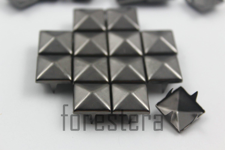 100 12mm Gunmetal Pyramid Studs DIY Studs Metal Studs Craft Studs Spike (GP12)