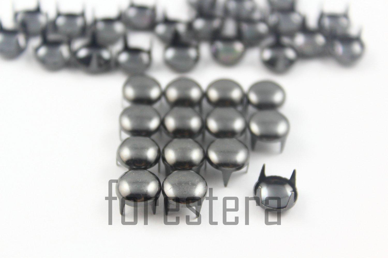 100 8mm Gunmetal Round Studs DIY Studs Metal Studs Craft Studs Spike (GR08)