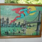 Vintage Framed Superman Puzzle 1983 DC Comics