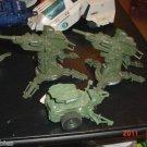 "3-3/4"" 1984 GI JOE Laser Cannons AA Howitzer Toy Guns"