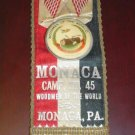 Woodsmen Of the World 1894 Ribbon Camp 45 Monica Pa