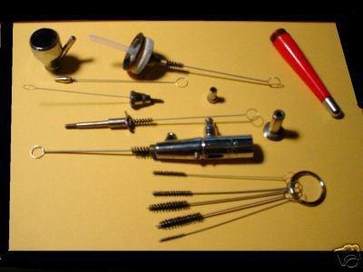 5 Brush Airbrush Cleaning Kit Set Iwata Paasche Badger Spray Paint & Tatoo Gun