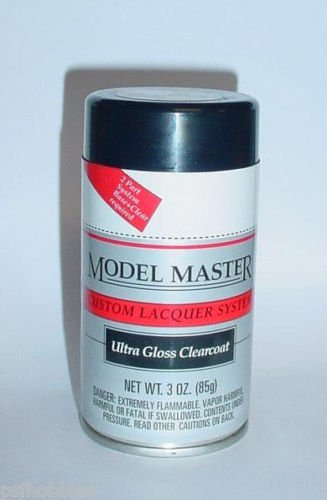 Testors Model Master Ultra Gloss Clear Lacquer 3oz Spray Can Model Car Paint