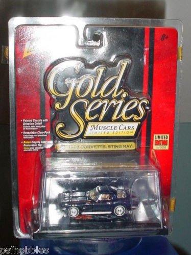 Johnny Lightning JL Gold Series 1963 Corvette Stingray Diecast Muscle Cars 1/64
