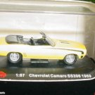 1/87 Chevy Camaro Convertible 1969 SS 396 HO Scale Lifelike Train Layout Diecast