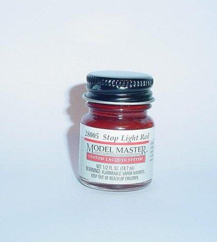 Testors Model Master Lacquer Stop Light Red 1/2 oz Plastic Model Car Paint