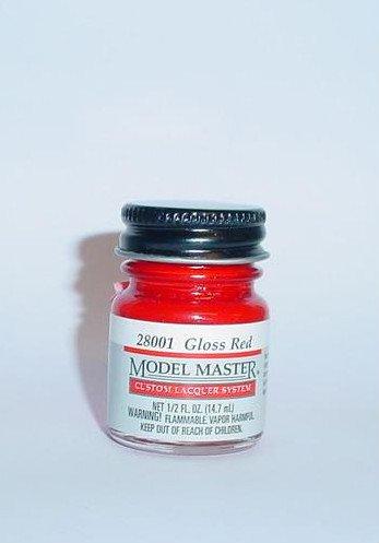 Testors Model Master Lacquer  Gloss  Red 1/2 oz Plastic Model Car Paint