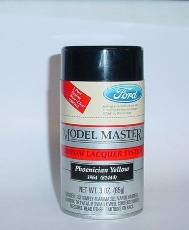 Testors Model Master Phoenician Yellow Ford Lacquer 3oz Spray Model Car Paint