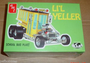 AMT Li'l Yeller School Bus Custom Hot Rod Plastic Model Car Kit MIP 1/25 LIL