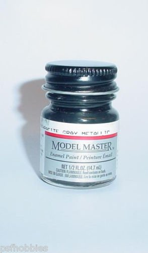 Testors Model Master 1/2 oz Anthracite Gray Metallic Plastic Model Car Paint