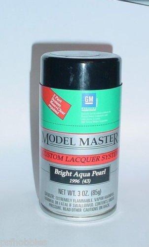 Testors Model Master Bright Aqua Pearl Lacquer 3oz Spray Can Model Car Paint