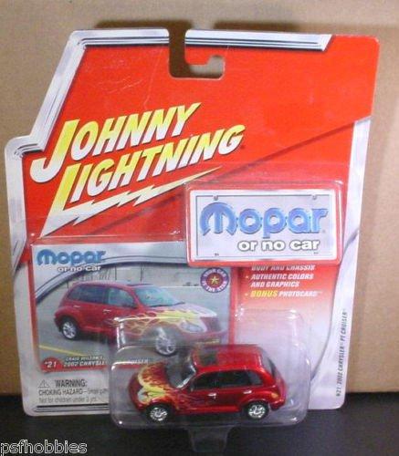 Johnny Lightning JL Mopar or No Car 2002 PT Cruiser Diecast Toy Car 1/64 Flames