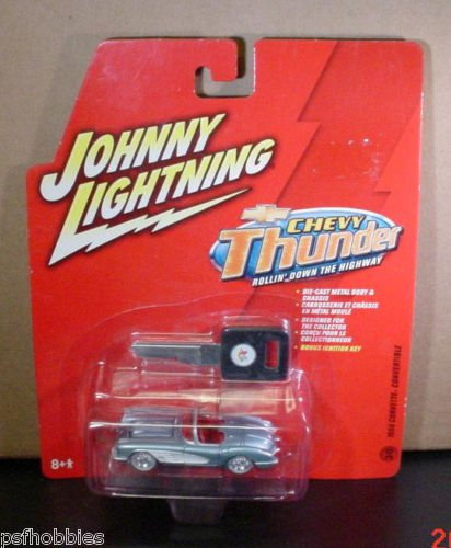 Johnny Lightning JL Chevy Thunder 1958 Corvette Diecast Toy Car 1/64 58 Vette